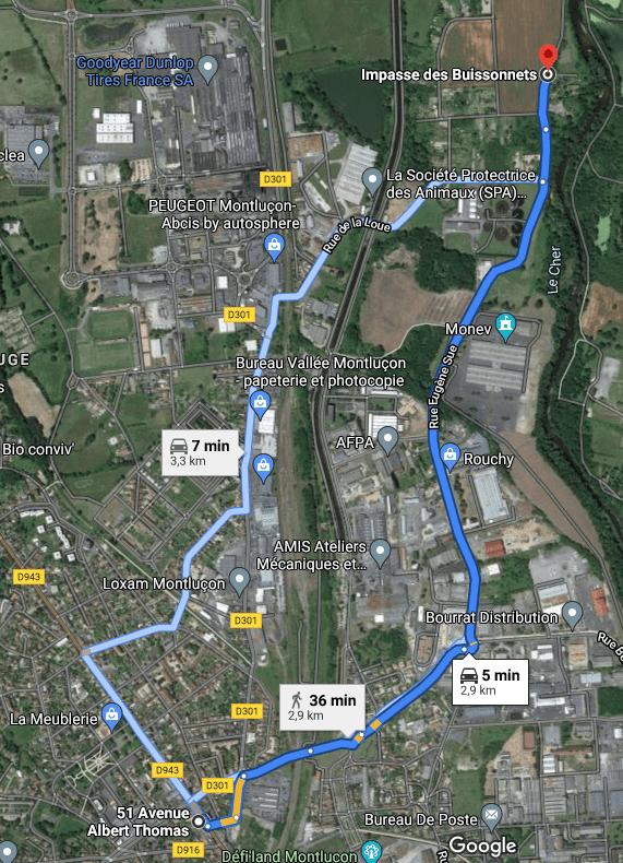 distance piste moto